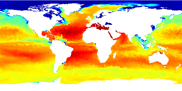 Sea Water Salinity from the Global Ice Ocean Prediction System (GIOPS) model